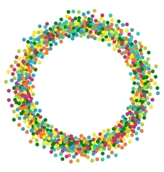 Christmas background round frame from colourful vector