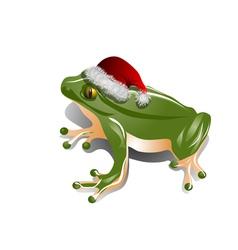 Christmas frog vector