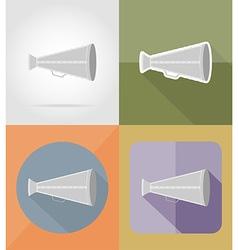 cinema flat icons 04 vector image