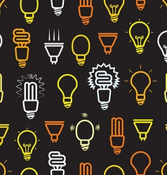 Color light lamps seamless background vector image