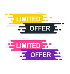Coupon sticker for sales limited offer banner on vector