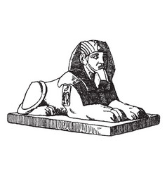 Crouching sphinx is a combination human vector