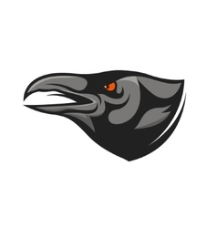Crow head mascot raven head vector