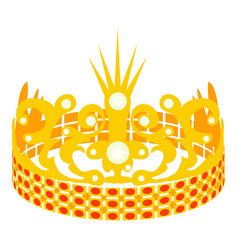 Crown of the princess icon cartoon style vector