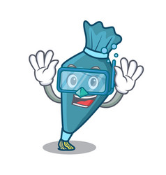 diving pastrybag character cartoon style vector image