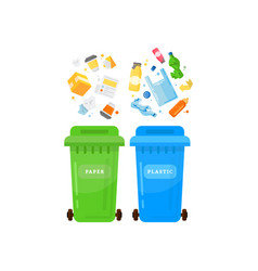 ecology and waste global eco friendly plastic vector image