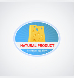 Emblem with cheese vector