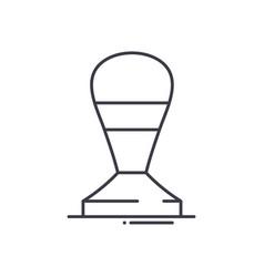 Espresso tamper icon linear isolated vector
