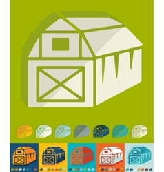 Flat design barn vector image