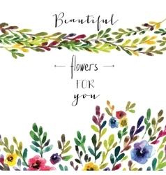 floral card Colorful floral banner with vector image