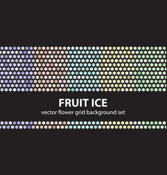 Flower pattern set fruit ice seamless vector