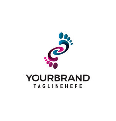 foot logo design concept template vector image