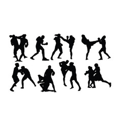 Free boxing sport activity vector