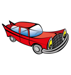 funny old car cartoon vector image
