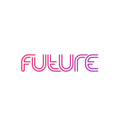 future logo line design with gradient vector image