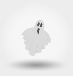 Ghost icon flat vector