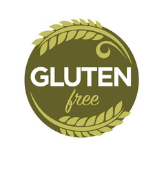 gluten free substance in cereal grains elastic vector image