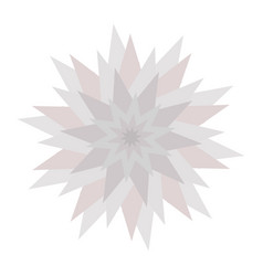 graphic flower icon triangle star shape gray vector image