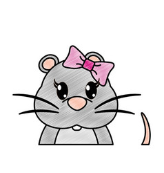grated adorable female mouse cute animal vector image