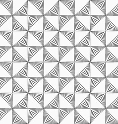 Gray striped rotated triangles vector