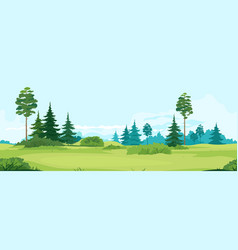Green valley with trees tillable horizontally vector