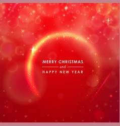 Greeting card merry christmas and happy new year vector