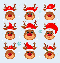 happy new year and merry christmas set nine vector image