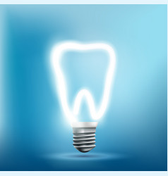 implant human tooth as a light bulb vector image