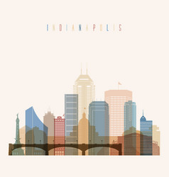 Indianapolis state indiana skyline vector