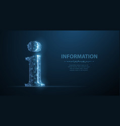 info abstract 3d sign isolated vector image