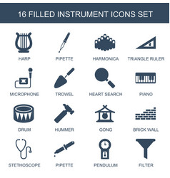 instrument icons vector image