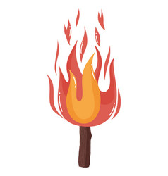 isolated camp fire design vector image
