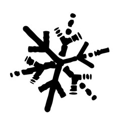 Isolated grunge snowflake vector
