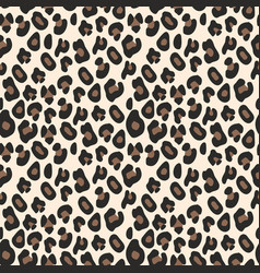 Leopard pattern seamless background vector