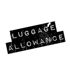 Luggage allowance rubber stamp vector