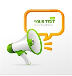 Megaphone speech templates for text vector