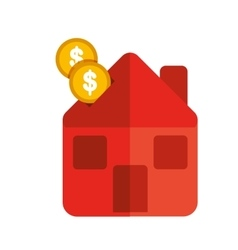 Money house icon vector