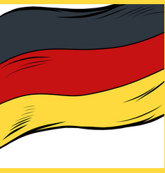 national flag germany vector image