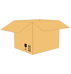 Open cardboard box vector