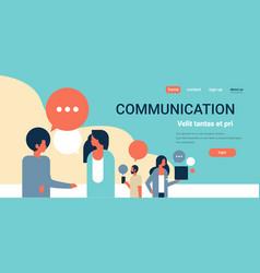 people chat bubbles communication speech dialogue vector image