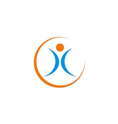 people fitness sport abstract logo vector image