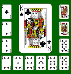 Playing cards suit clubs vector