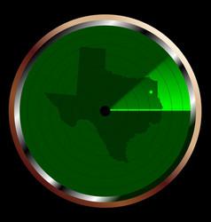 Radar on texas vector