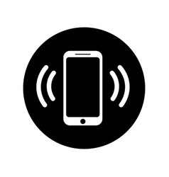 Ringing phone icon in circle mobile call icon vector