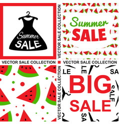 Sale template collection vector