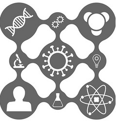 Science icon set on smooth grid vector