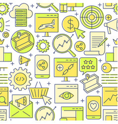 Search engine optimization seamless pattern in vector