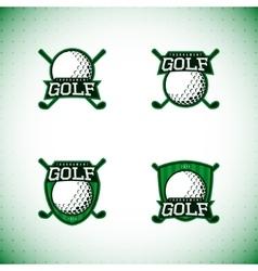 set labels golf tournament vector image