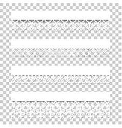 Set lace borders with shadows vector