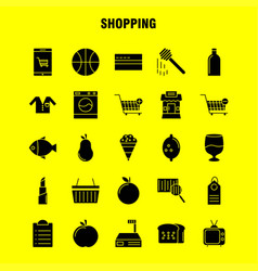 Shopping solid glyph icon for web print and vector